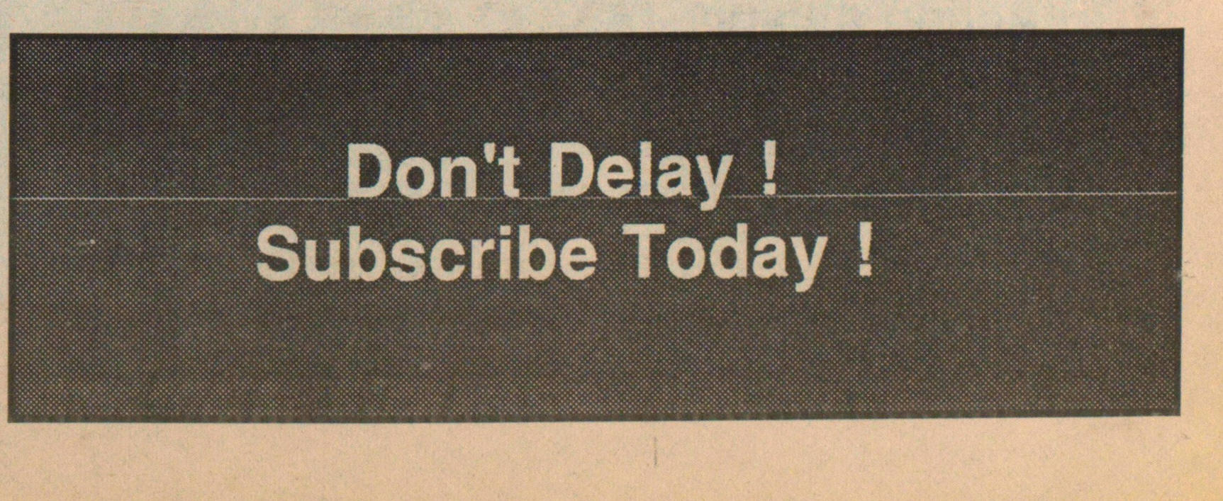 Don't Delay! image