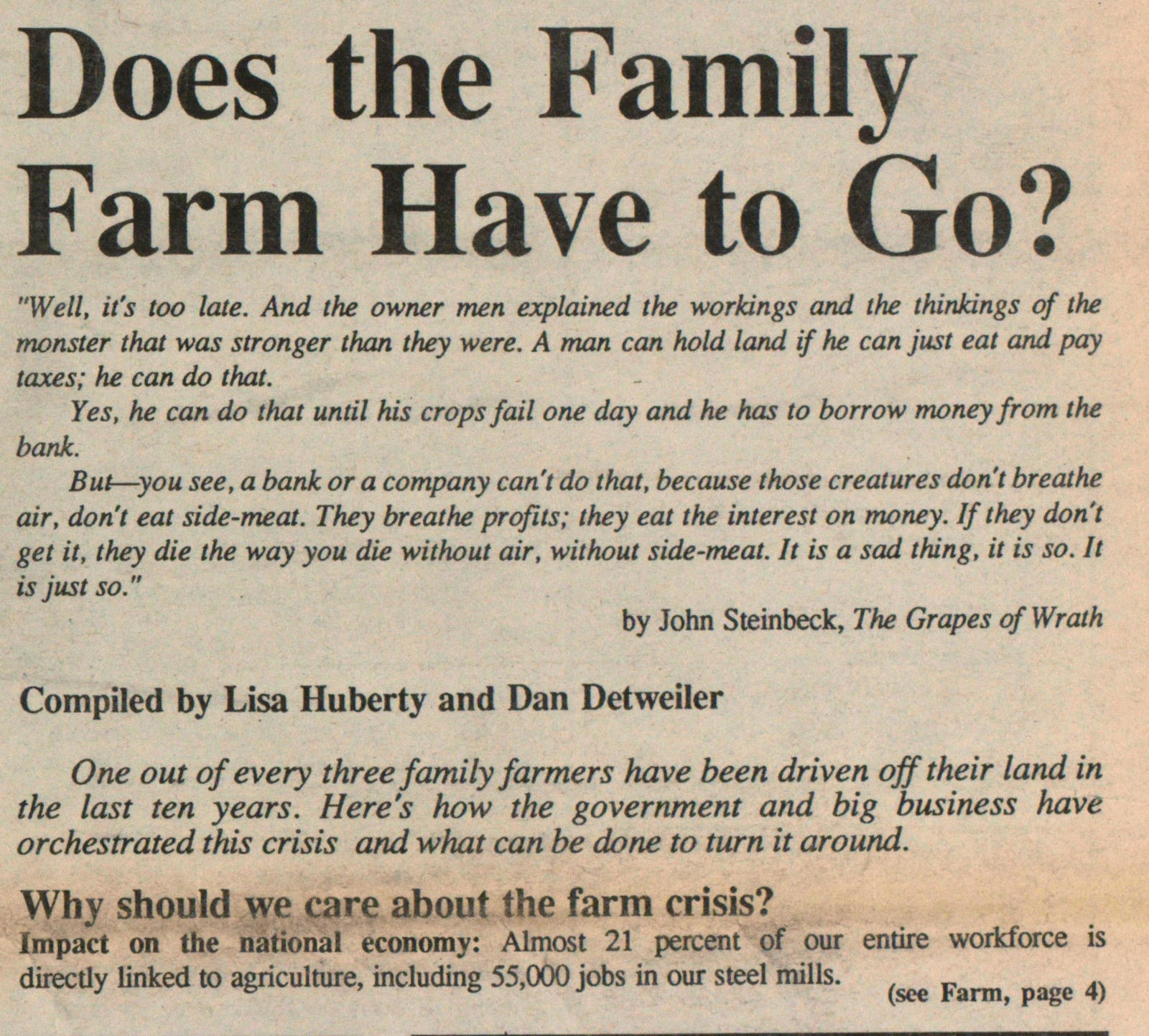 Does The Family Farm Have To Go? image