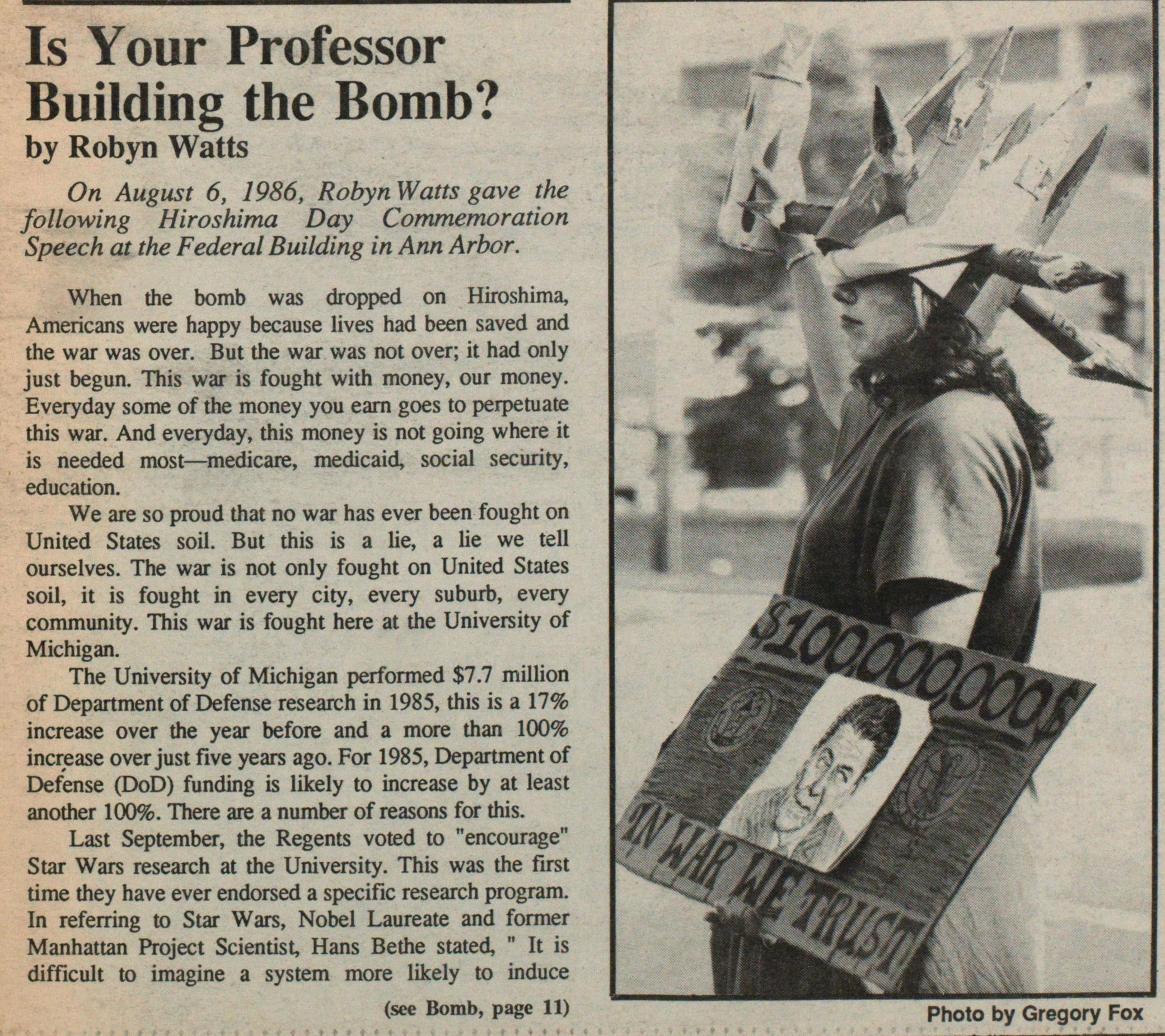 Is Your Professor Building The Bomb? image