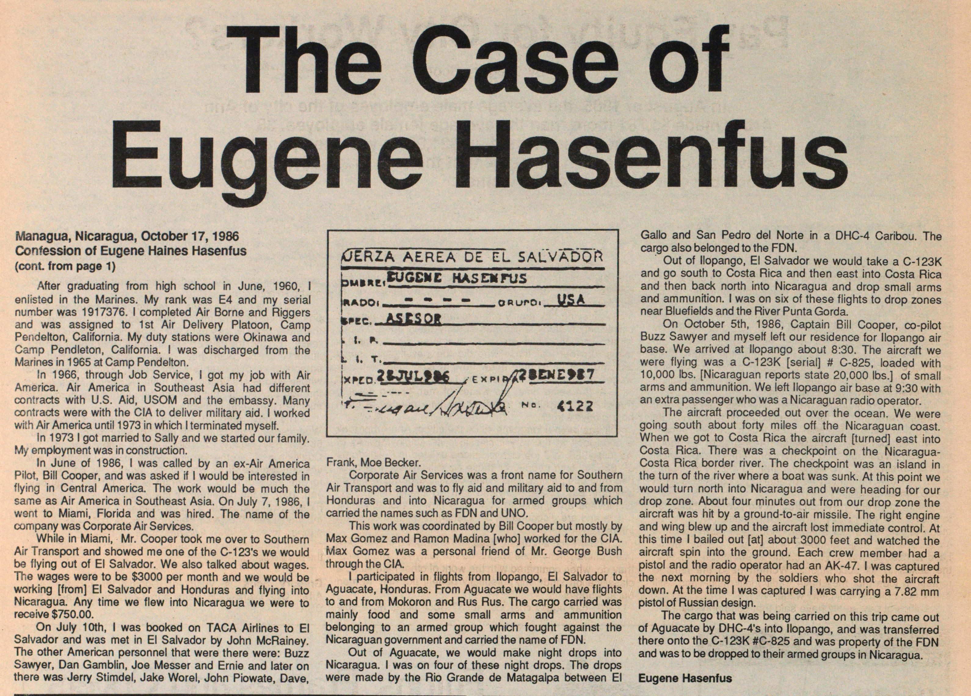 The Confession Of Eugene Hasenfus image