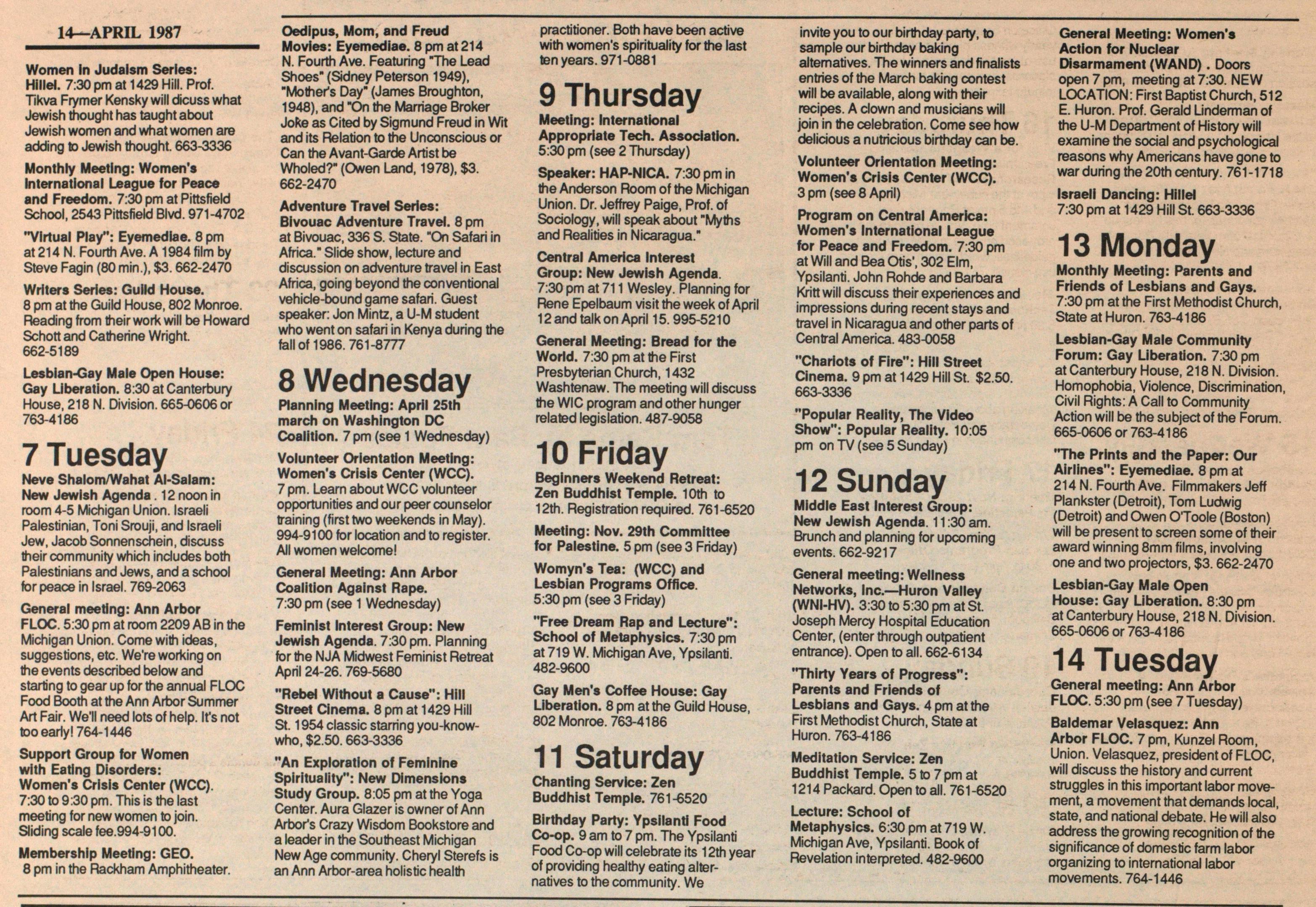 Calendar Ann Arbor District Library