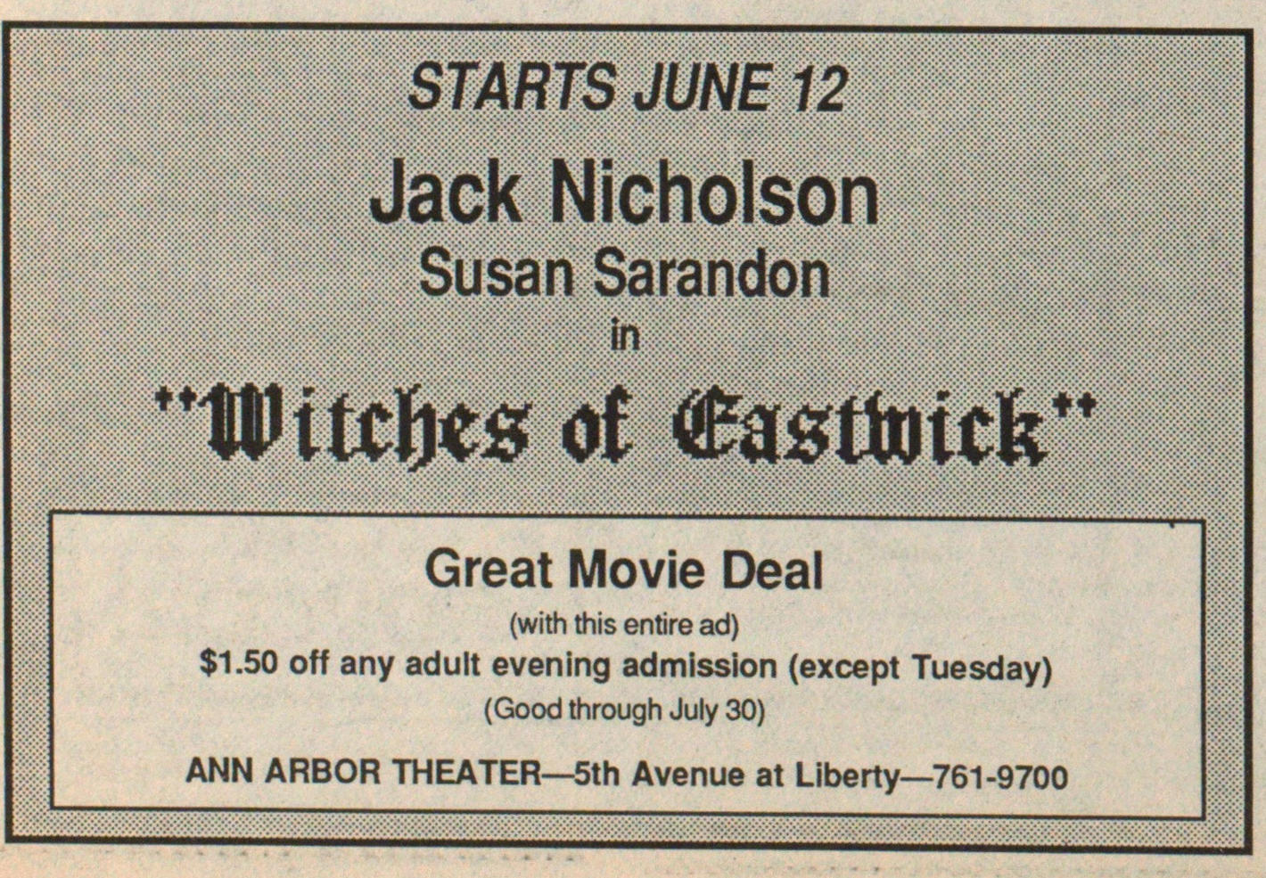 """witches Of Castwick"" image"