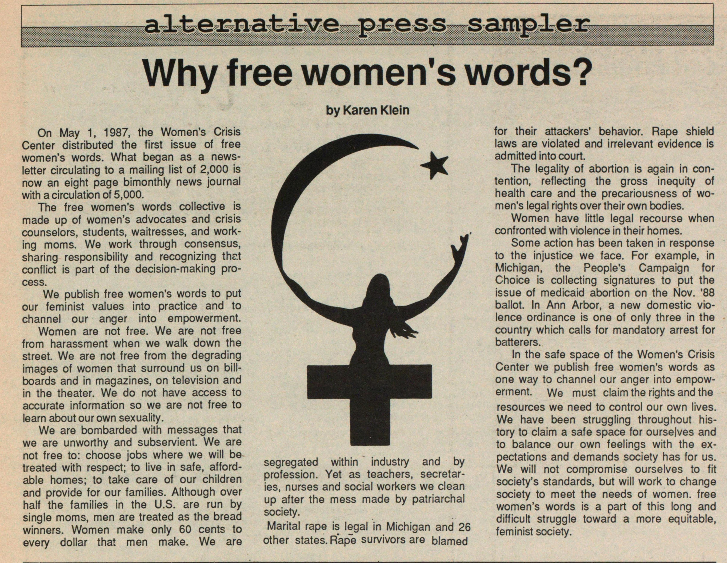 Why Free Women's Words? image