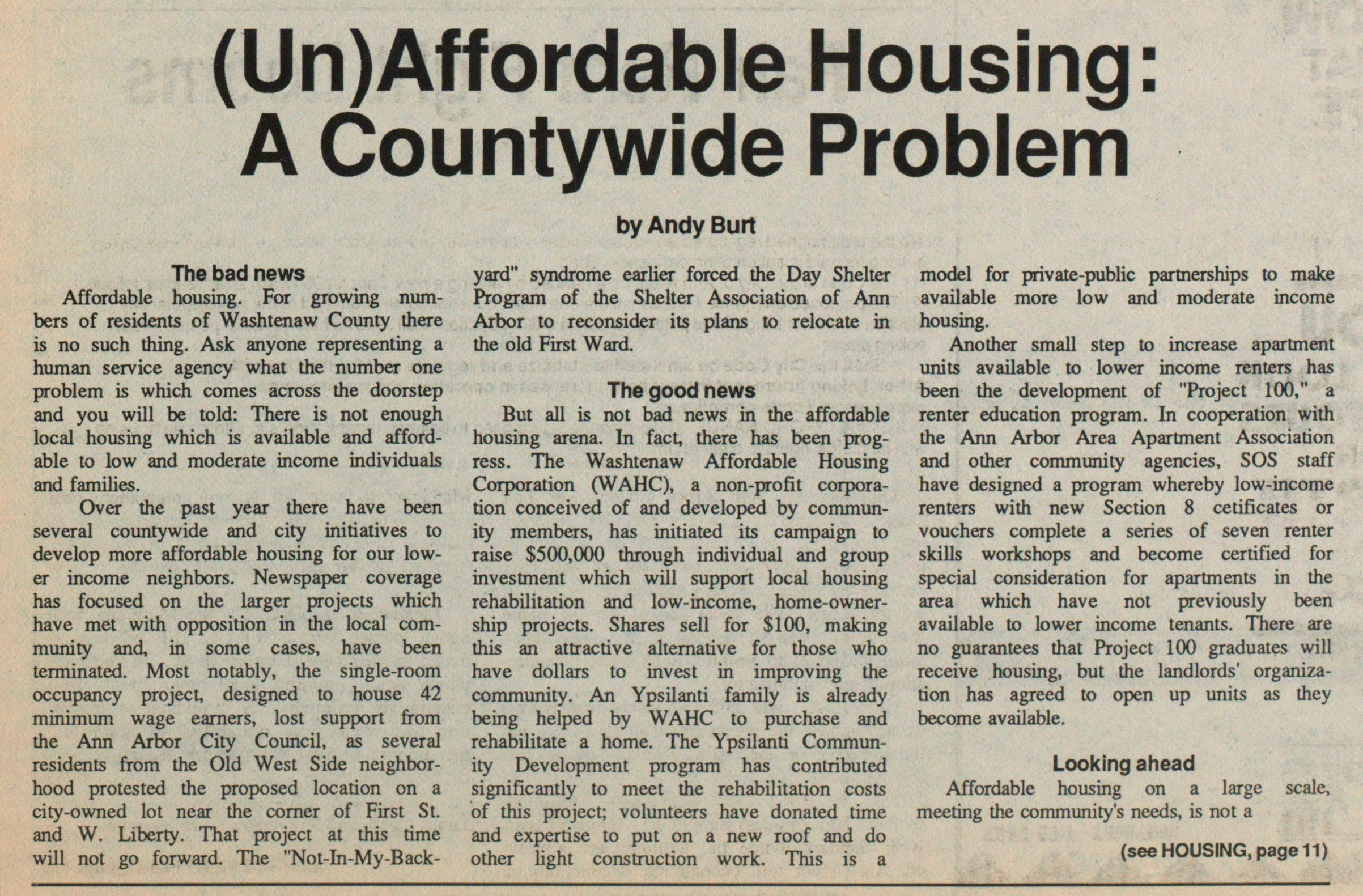 (un) Affordable Housing: A Countywide Problem image