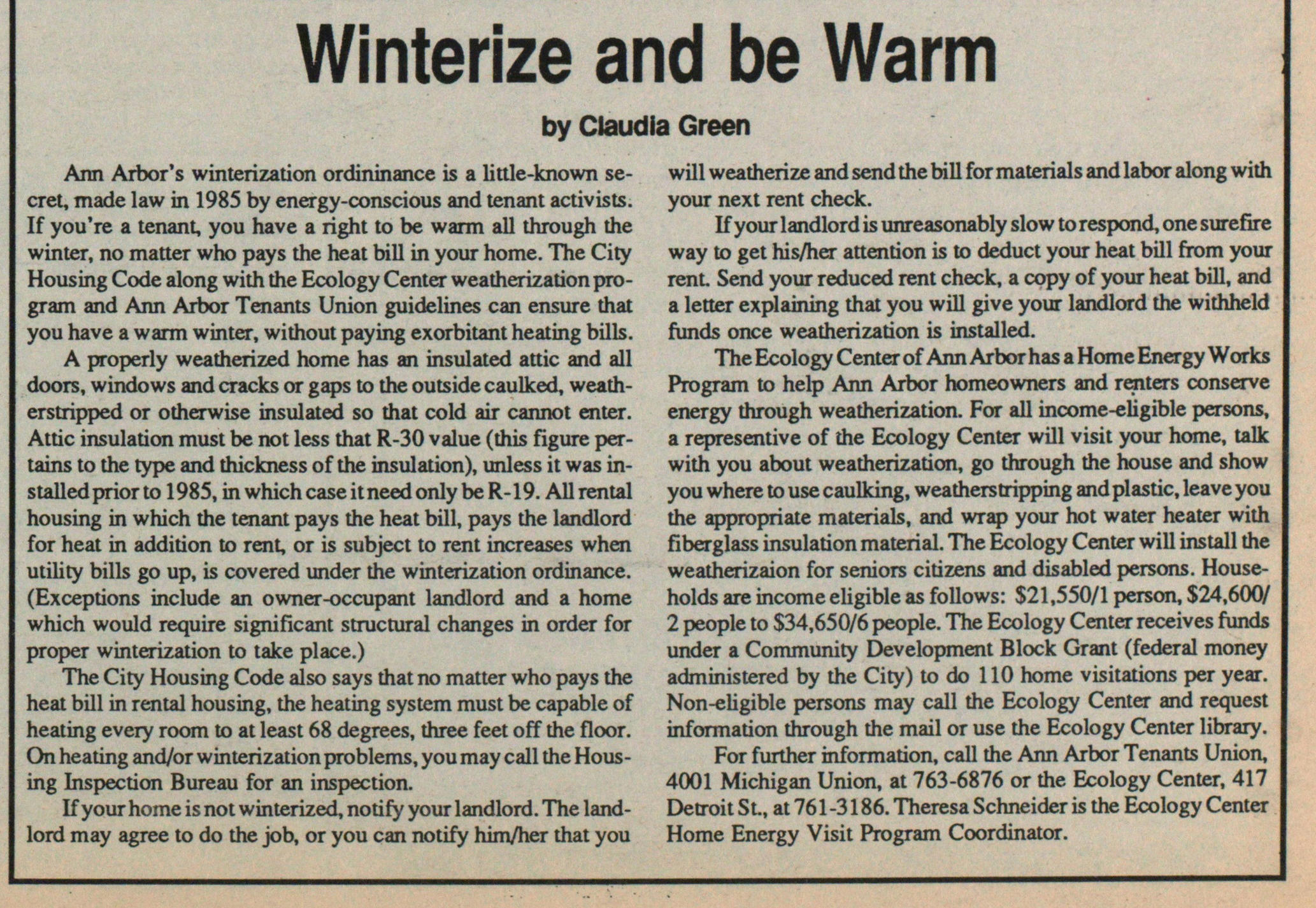 Winterize And Be Warm image