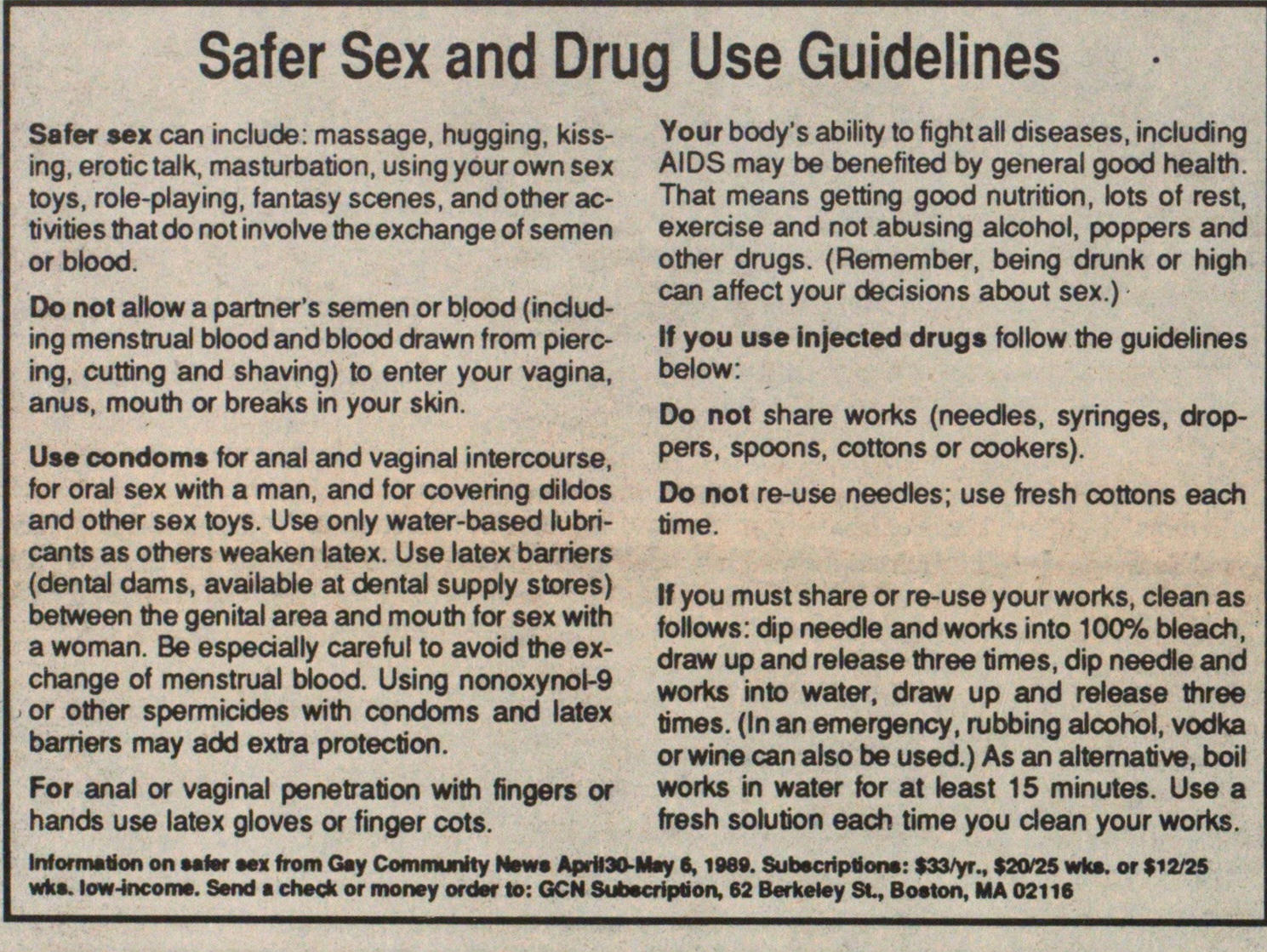 Safer Sex And Drug Use Guidelines image