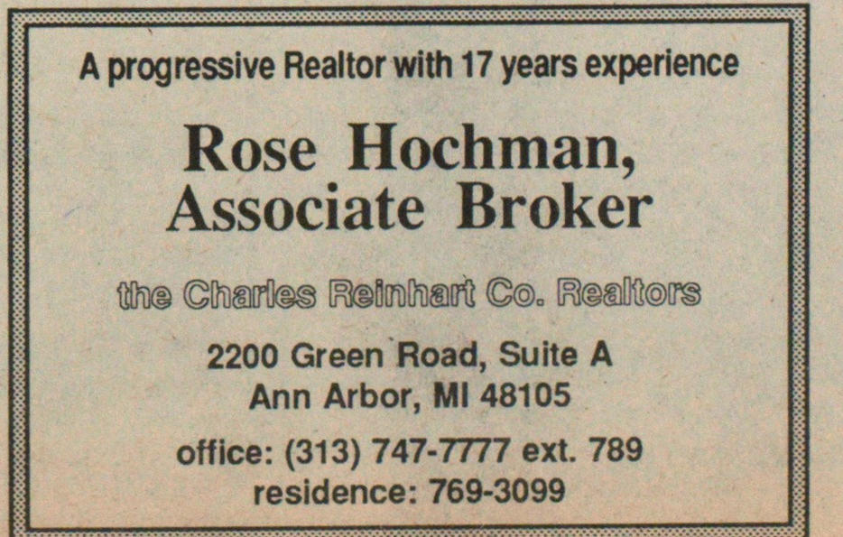 Rose Hochman, Associate Broker image