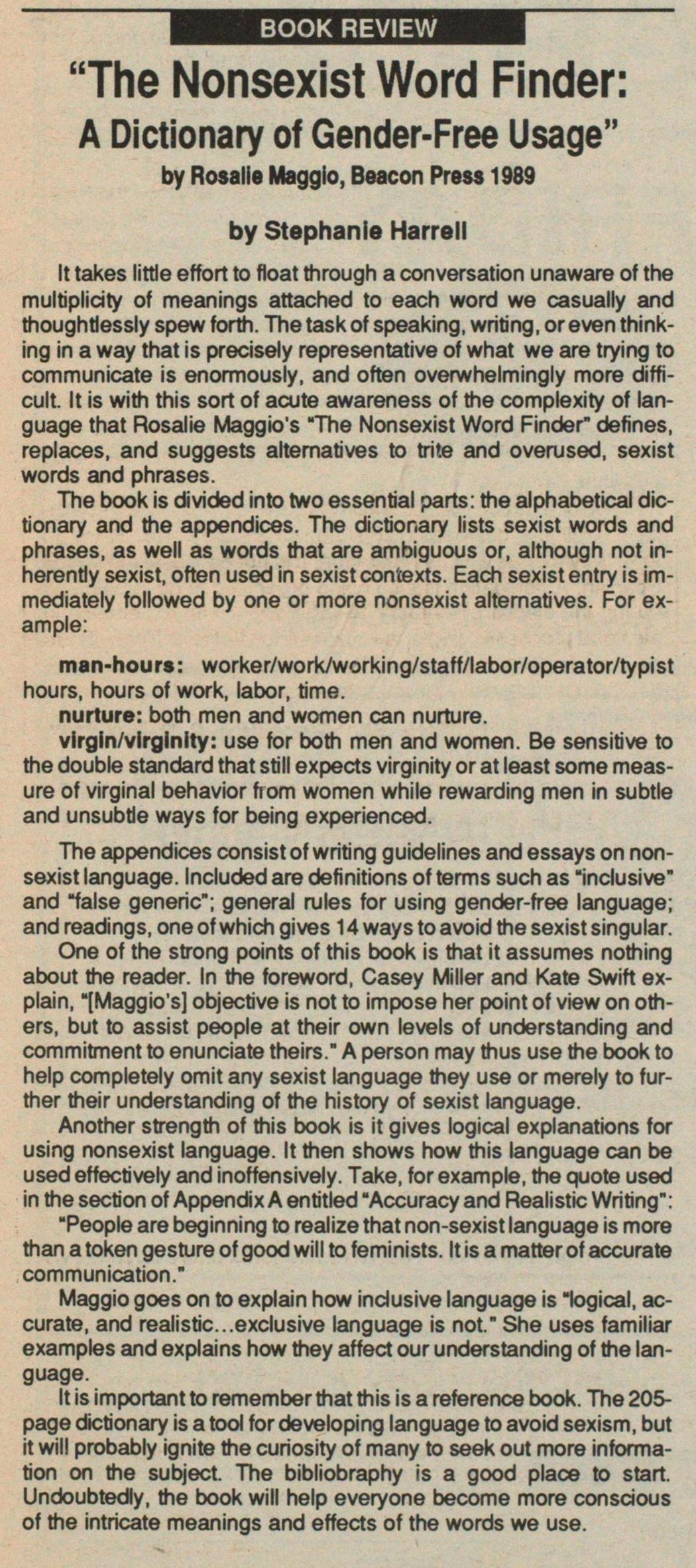 nonsexist word finder