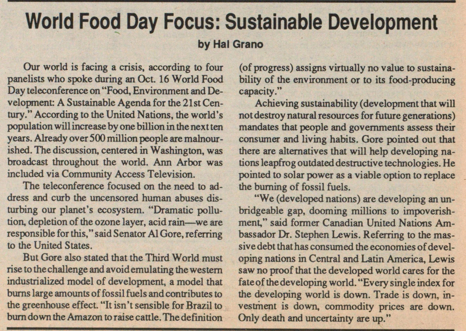 World Food Day Focus: Sustainable Development image