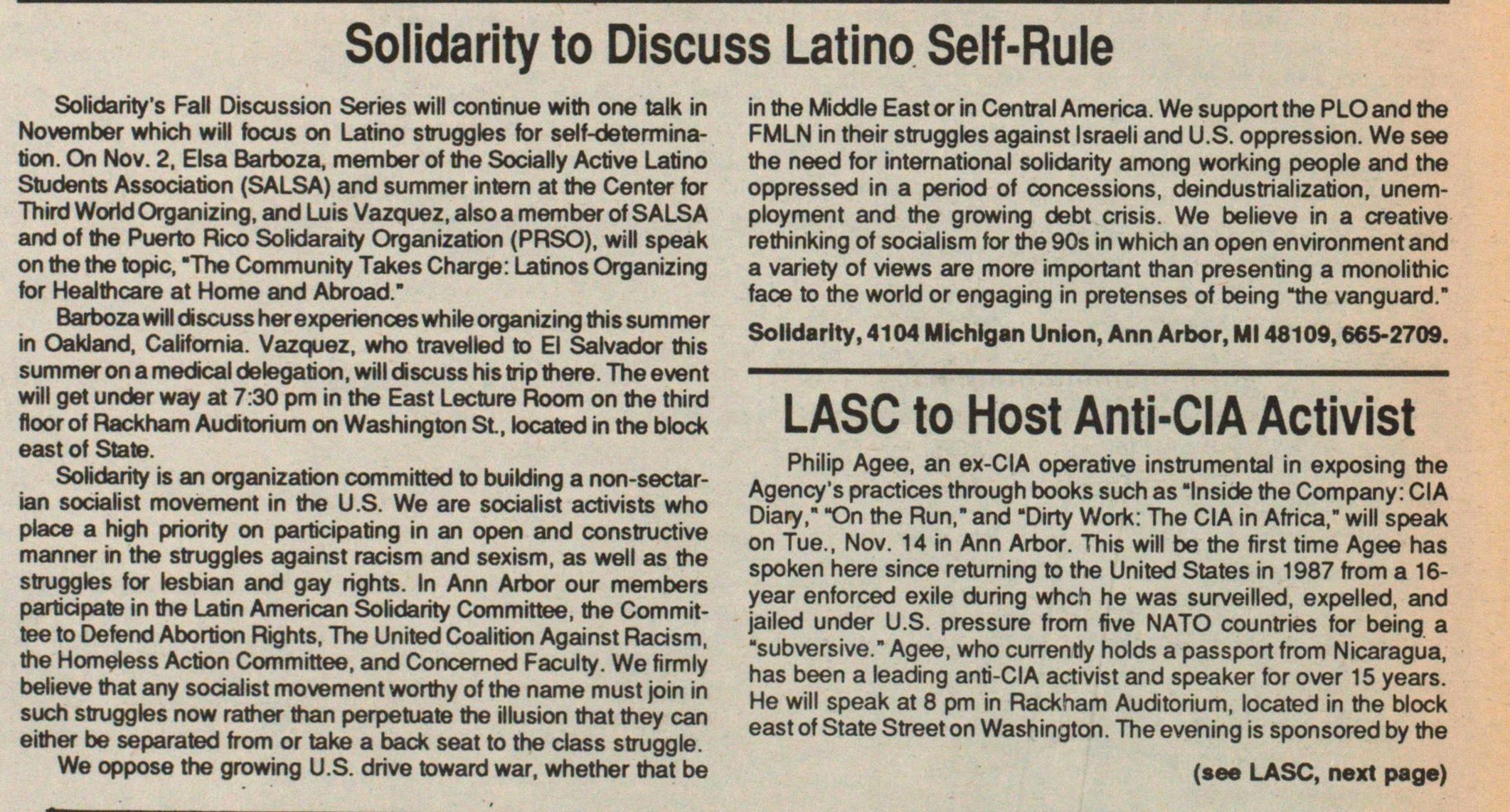 Solidarity To Discuss Latino Self-rule image