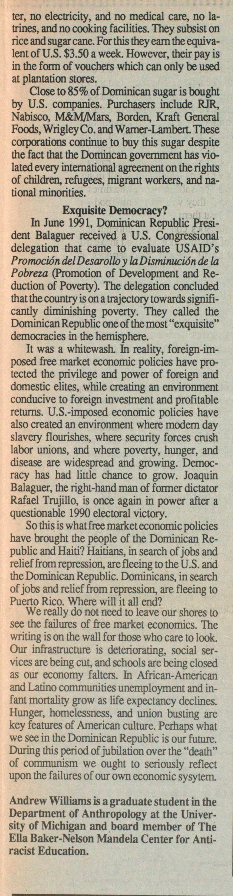 The Dominican Republic: Failure Of The Free Market image