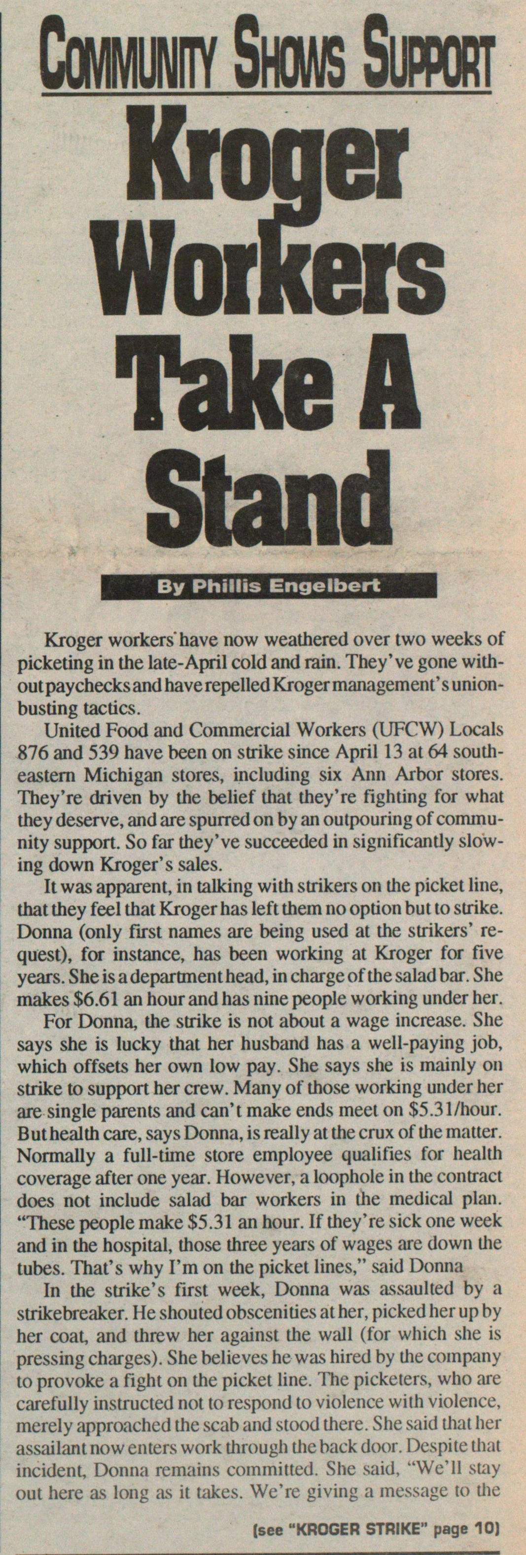 Kroger Workers Take A Stand image