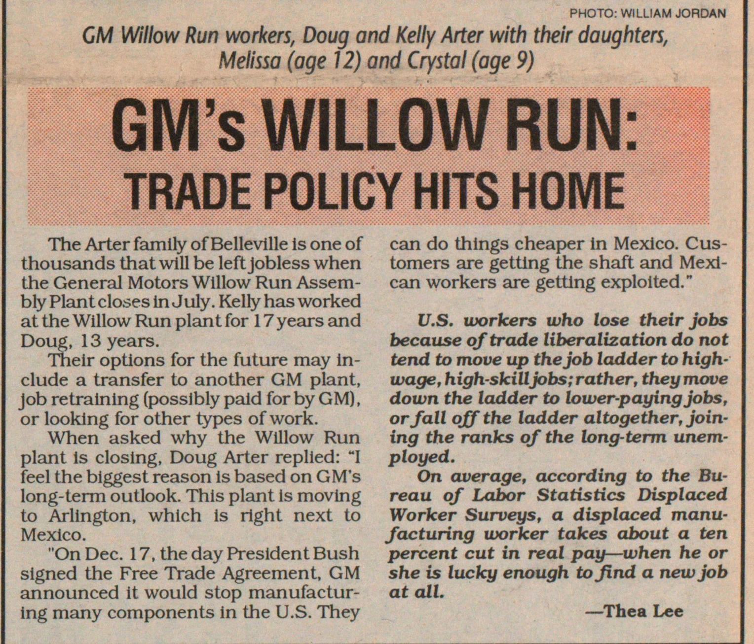 Gm's Willow Run: Trade Policy Hits Home image