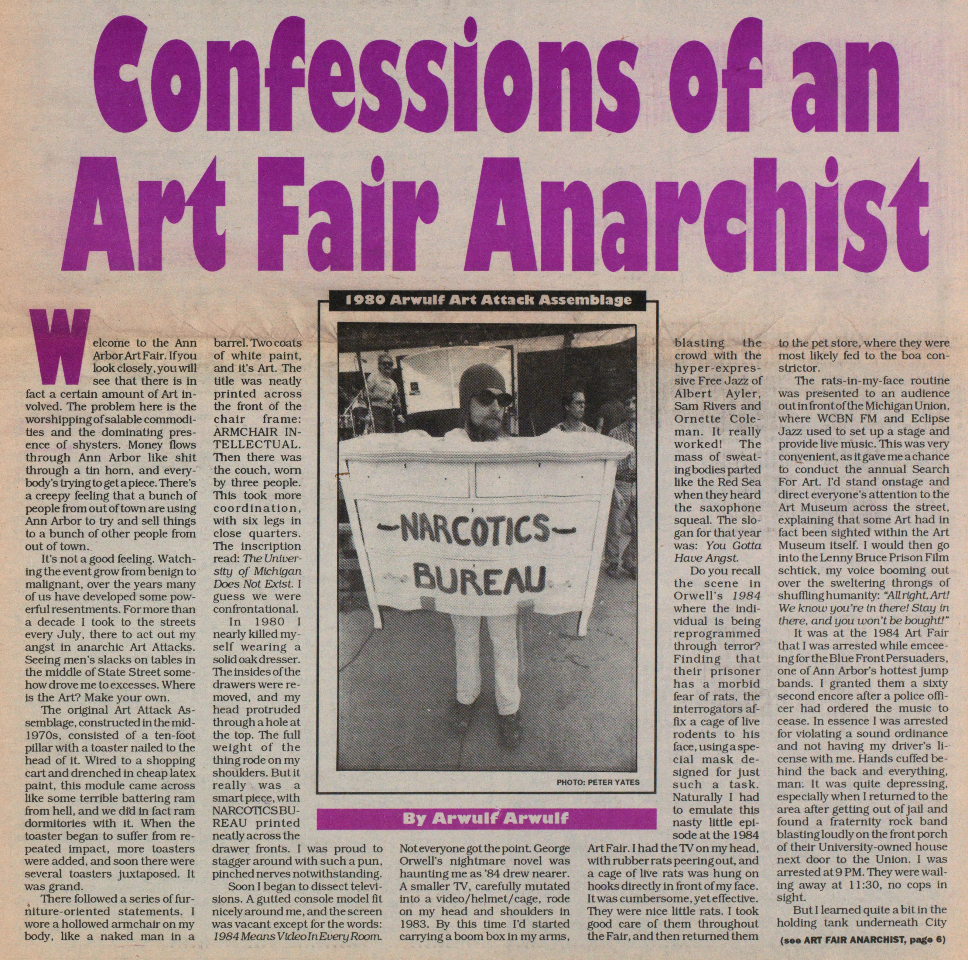 Confessions Of An Art Fair Anarchist image