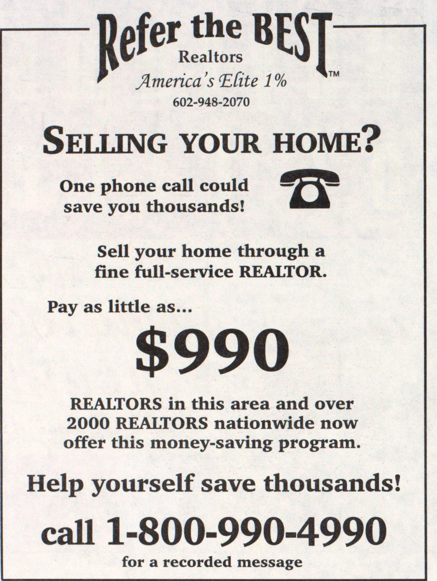 Refer The Best Realtors America's Elite 1% image