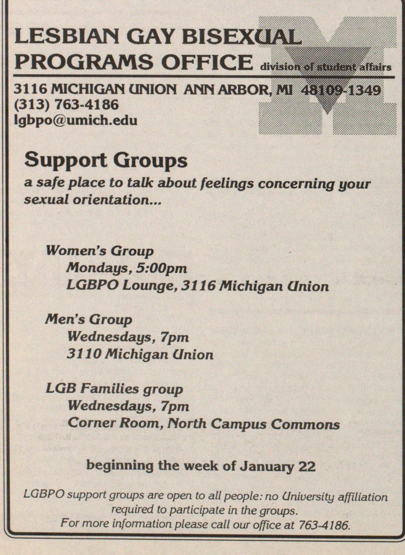 Ann arbor gay and lesbian support
