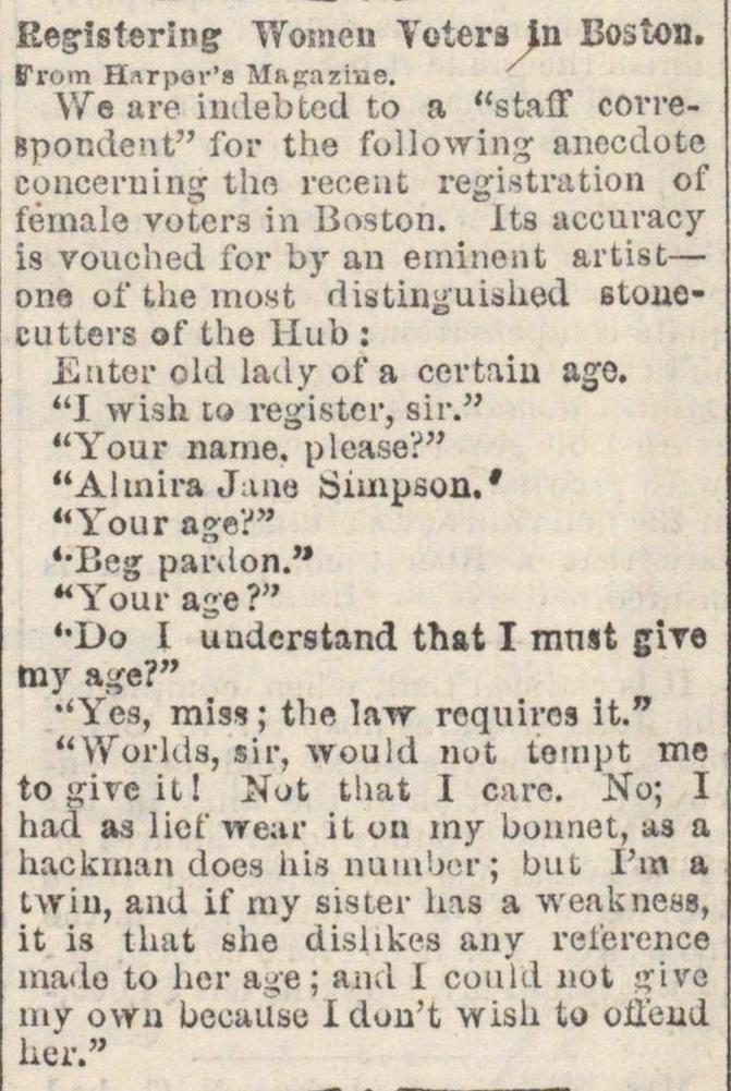Registering Women Voters In Boston image