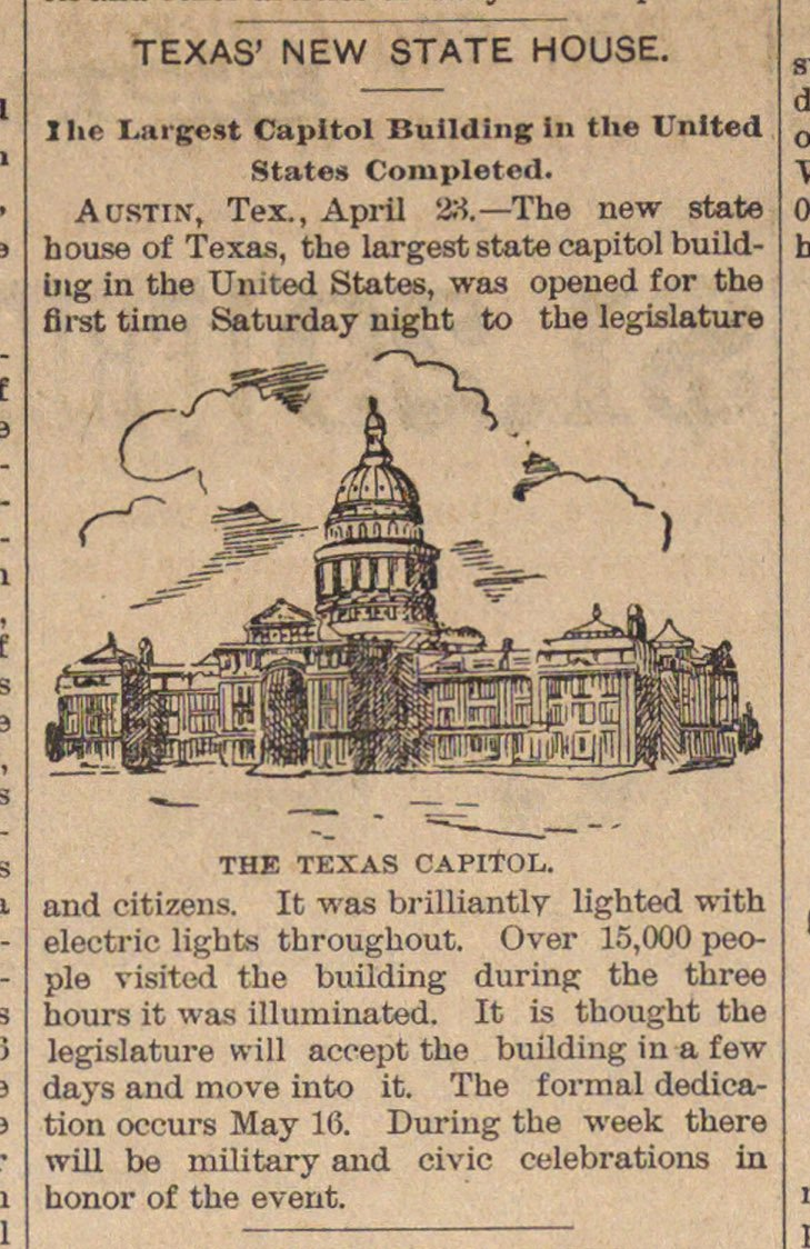 Texas' New State House image
