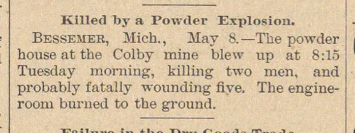 Killed By A Powder Explosion image