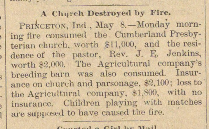 A Church Destroyed By Fire image