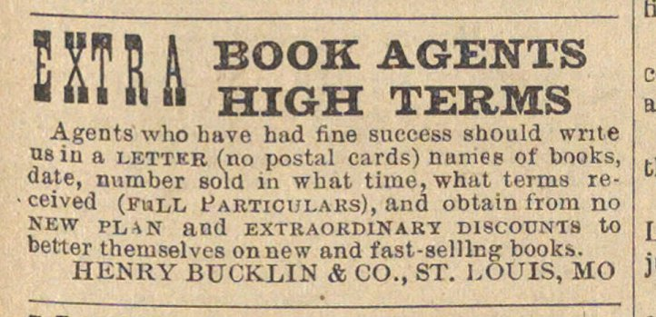 Extra Book Agents High Terms image