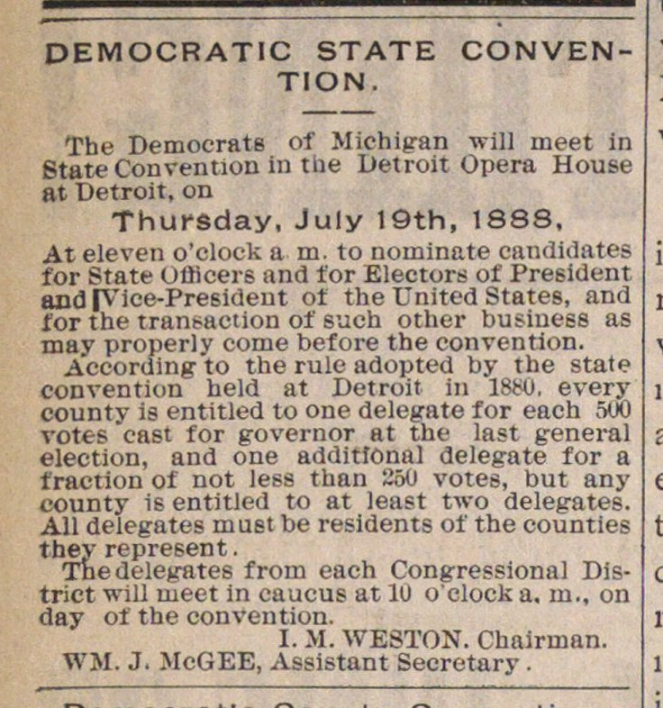 Democratic State Convention image