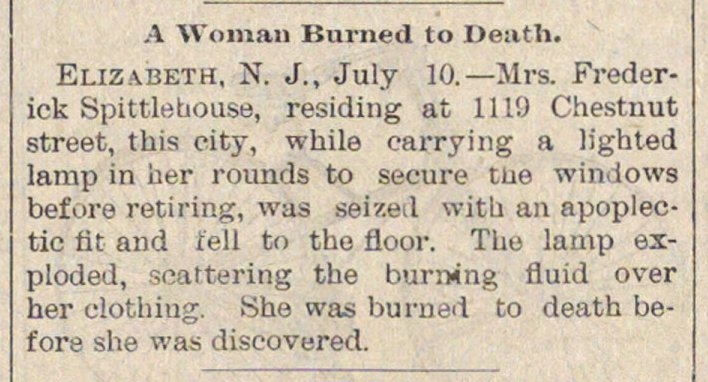 A Woman Burned To Death image