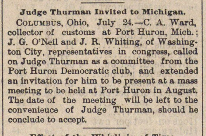 Judge Thurman Invited To Michigan image