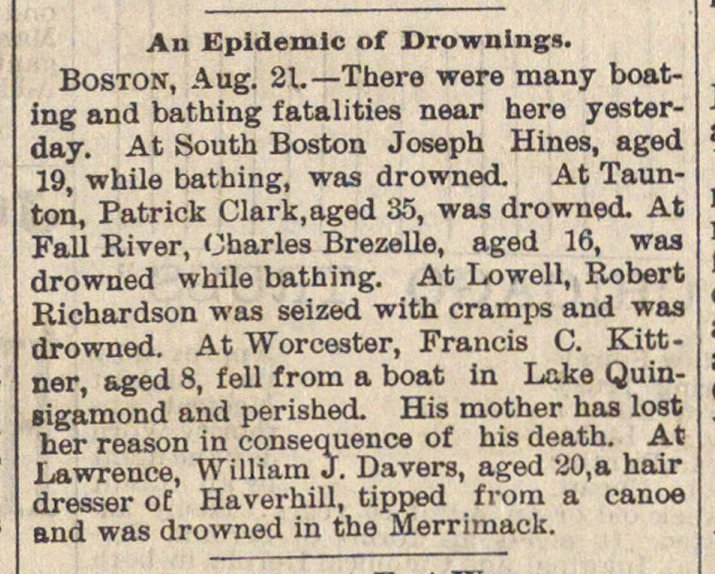 An Epidemic Of Drownings image