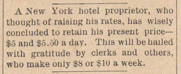 A .New York hotel proprietor, who though... image