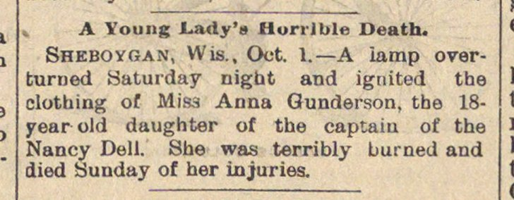 A Young Lady's Horrible Death image