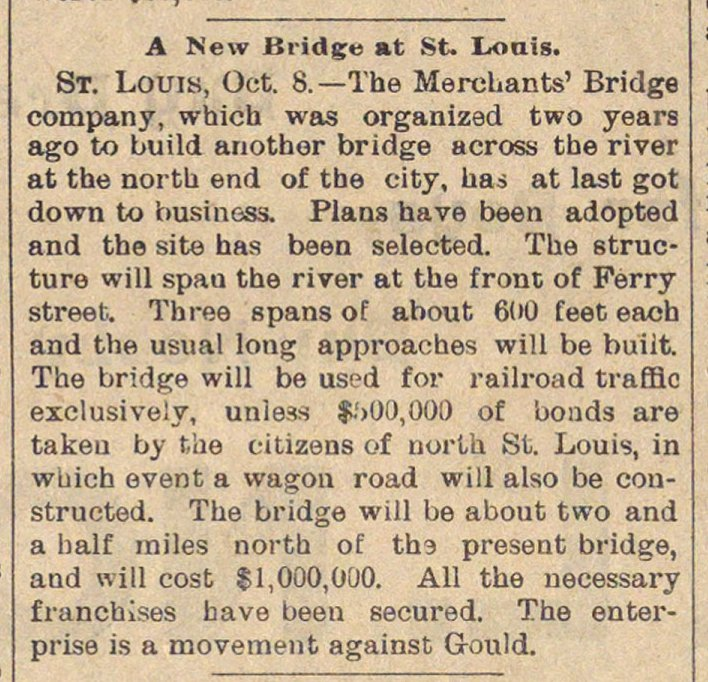 A New Bridge At St. Louis image