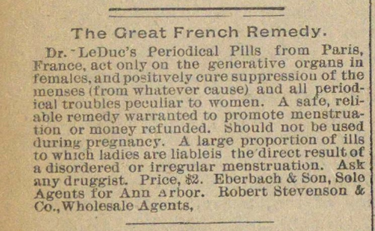 The Great French Remedy image