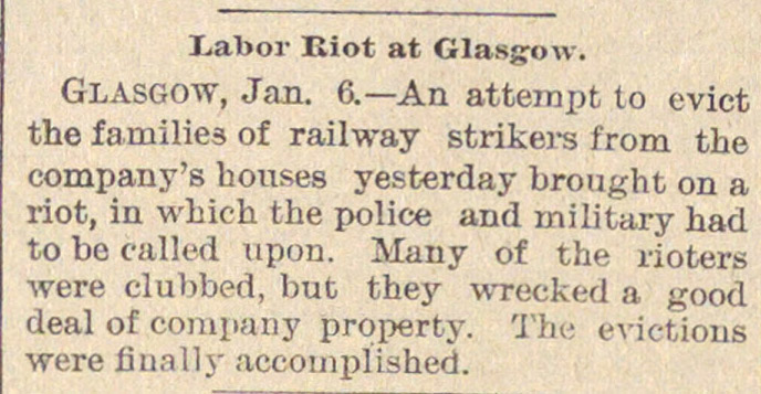 Labor Riot At Glasgow image