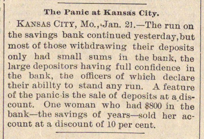 The Panic At Kansas City image