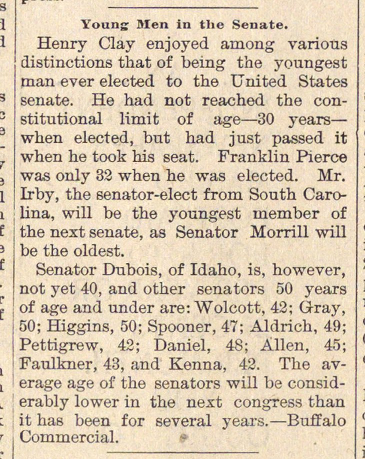 Young Men In The Senate image