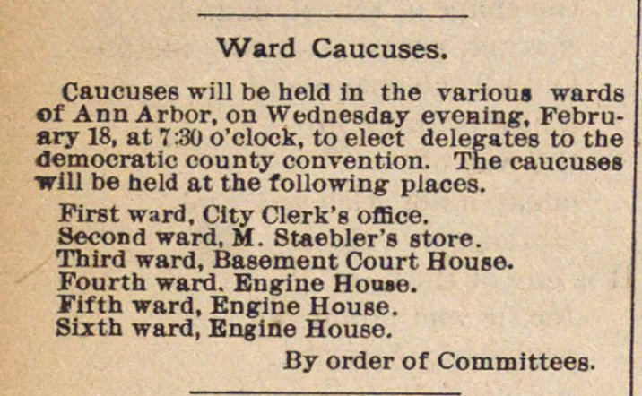 Ward Caucuses image