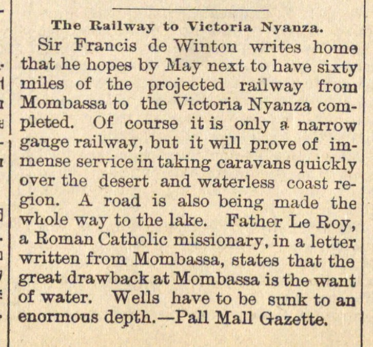 The Railway To Victoria Nyanza image