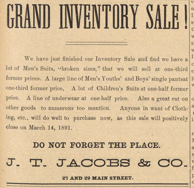 Grand Inventory Sale! image