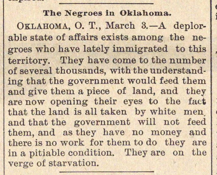 The Negroes In Oklahoma image