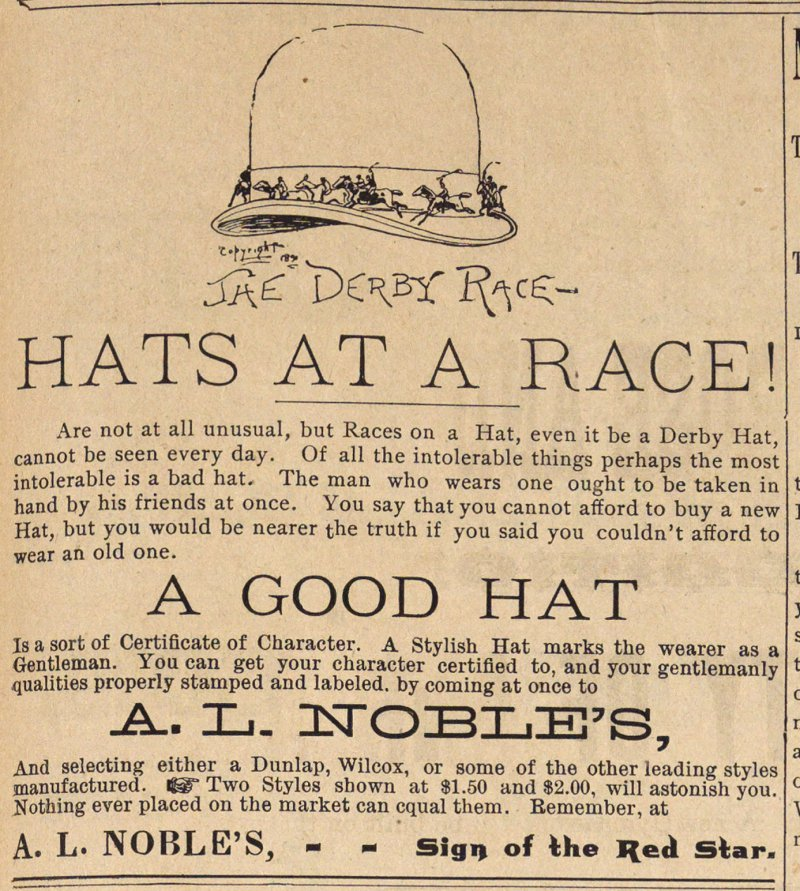 Hats At A Race! image