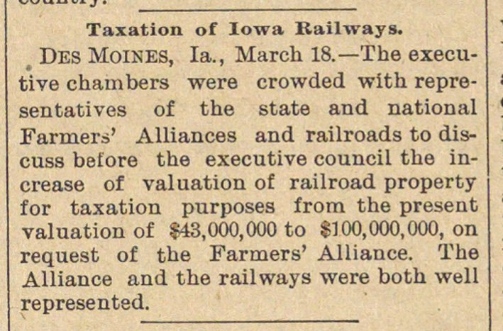 Taxation Of Iowa Railways image
