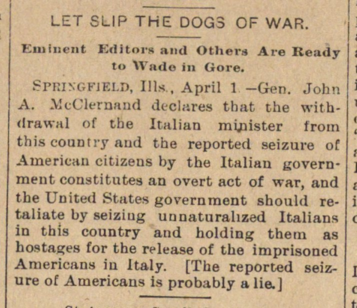 Let Slip The Dogs Of War image