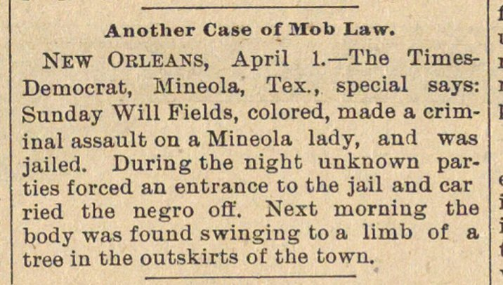 Another Case Of Mob Law image