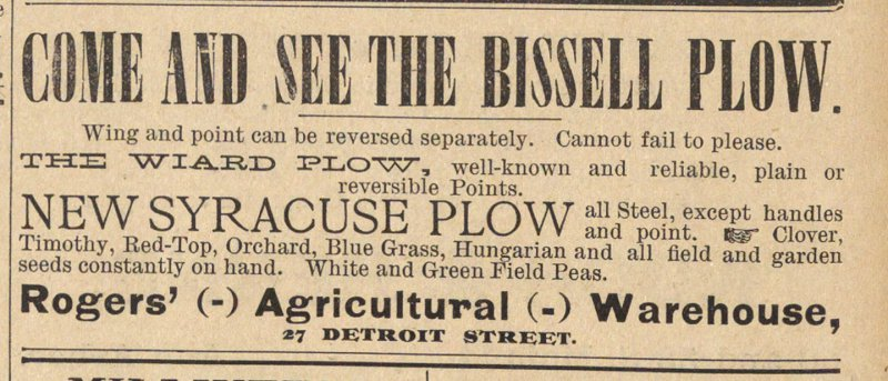 Come And See The Bissell Plow image