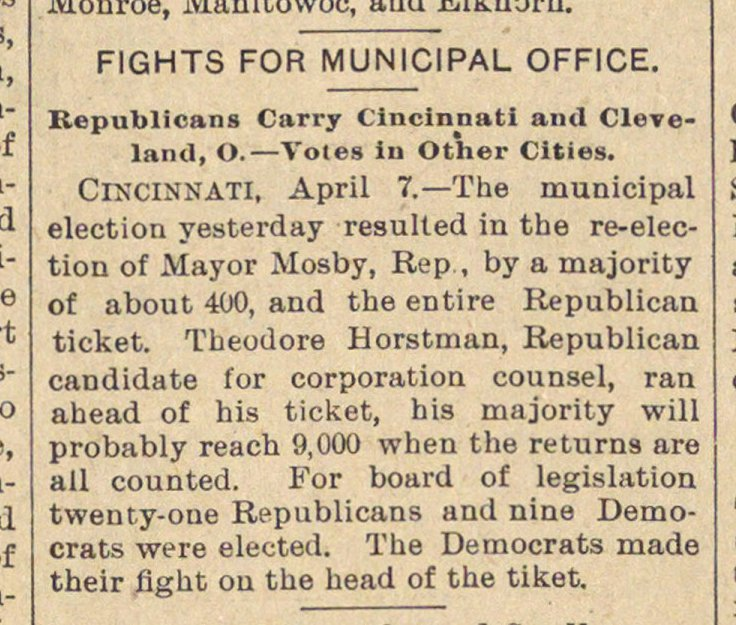 Fights For Municipal Office image