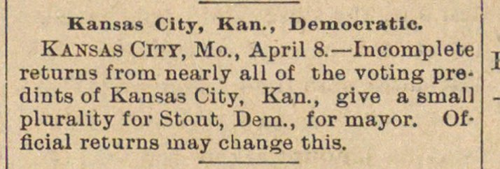 Kansas City, Kan., Democratic image