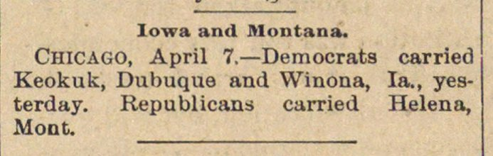 Iowa And Montana image
