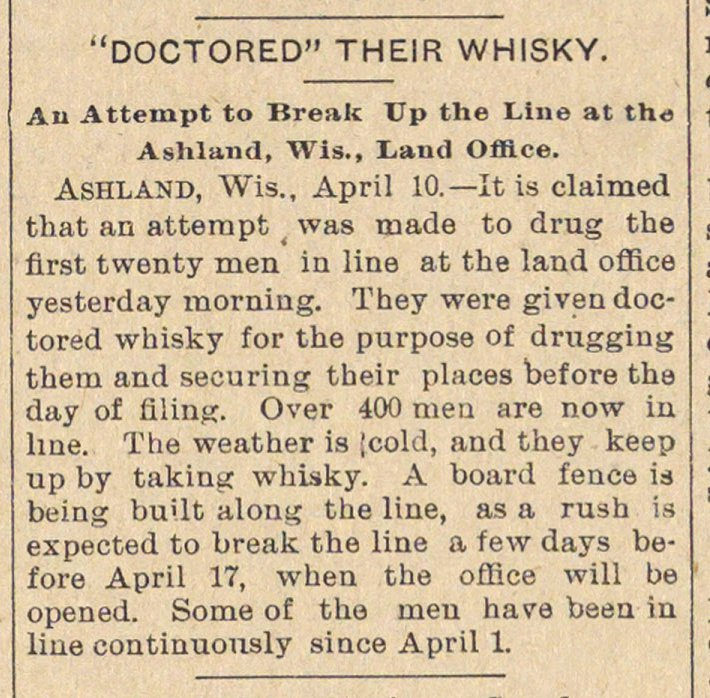 """doctored"" Their Whisky image"