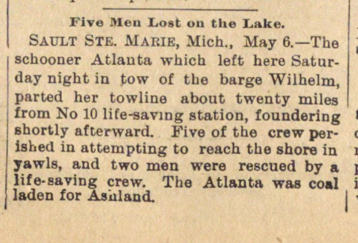 Five Men Lost On The Lake image